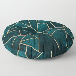 Deep Teal Stone Floor Pillow