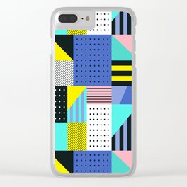 Patchwork Two Clear iPhone Case
