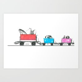 Mother, Son, and Daughter Art Print