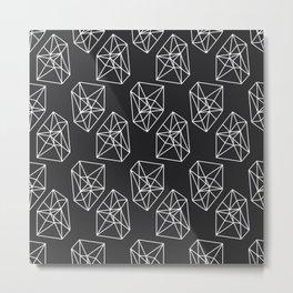 Almost Geometric Jewels Pattern #black Metal Print
