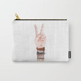 Peace Hand Symbol Carry-All Pouch