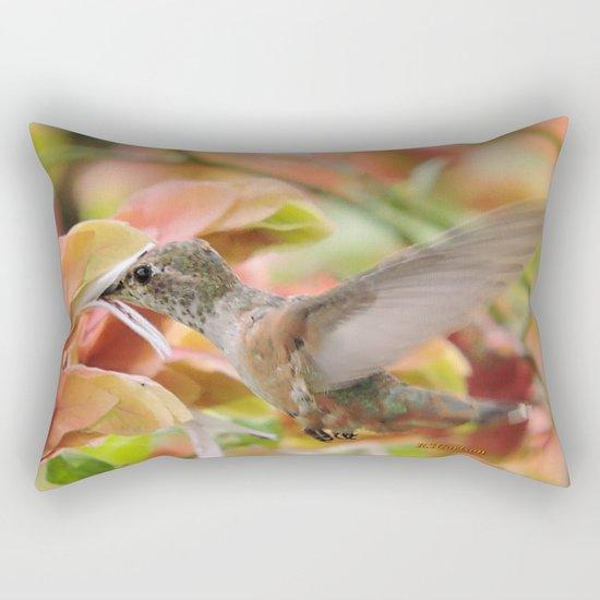 Little Ms. Hummingbird in for More Licks Rectangular Pillow
