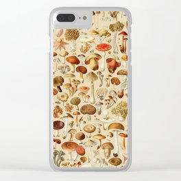 Vintage Mushroom Designs Collection Clear iPhone Case
