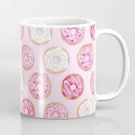 Pink Donuts Pattern on a pink background Coffee Mug