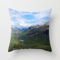 norway Throw Pillows featuring Trollveggen // Norway by Memento Mori Studio
