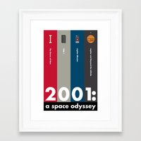 2001 a space odyssey Framed Art Prints featuring 2001: A Space Odyssey by Jenny Norwood