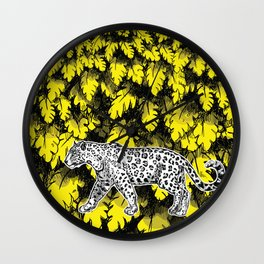 Taking a stroll in the jungle 2 Wall Clock