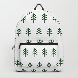 Hand drawn forest green trees Backpack