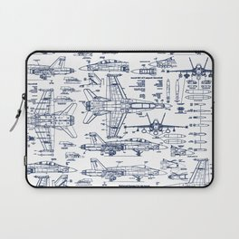 F-18 Blueprints // Blue Ink Laptop Sleeve