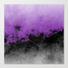 Zero Visibility Radiant Orchid Canvas Print