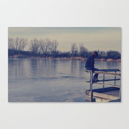 Frozen water Canvas Print