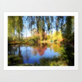 Dreamy Water Garden Art Print