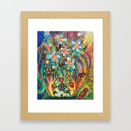 House in Bloom Framed Art Print