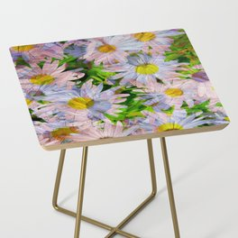 DAISEY MADNESS ABSTRACT  Side Table