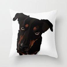 Sunny (white) Throw Pillow