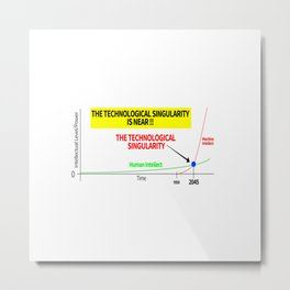 THE TECHNOLOGICAL SINGULARITY IS NEAR Metal Print