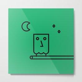 MONSIEUR OWL Metal Print