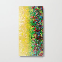 NATURE'S LIVING ROOM - Gorgeous Bright Bold Nature Wildflower Field Landscape Abstract Art New 2012 Metal Print