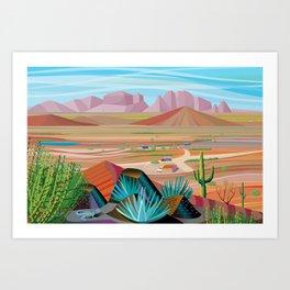 La Pimeria, West Phoenix Art Print