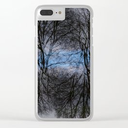 Abstract tress Clear iPhone Case