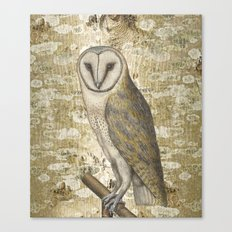On the speculation of Keats , and the gaze of the owl. We are all in camouflage. Canvas Print