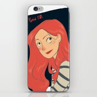 amy pond iPhone & iPod Skins featuring Amy Pond by Lara Pickle