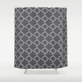 Grey Trellis Shower Curtain