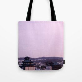 Pink Sky in Seoul Tote Bag