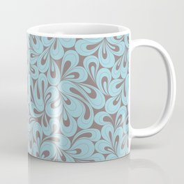 Teal and coffee hand drawn elegant surface pattern Coffee Mug