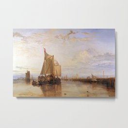 William Turner - The Dort Packet-Boat from Rotterdam Becalmed Metal Print
