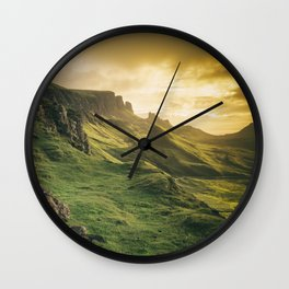 Mesmerized By the Quiraing IV Wall Clock