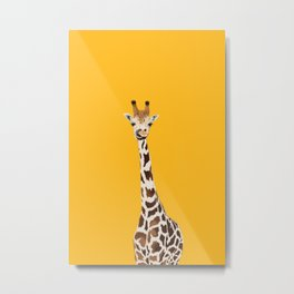 The Nose-picking Giraffe (no fingers needed) Metal Print