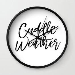 Cuddle Weather Wall Clock