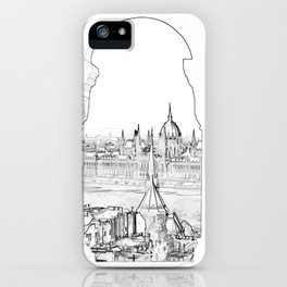 Budapest and hungarian parliament iPhone Case