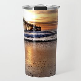 "Hermosa Beach ""Water Drops"" Travel Mug"