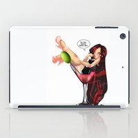 drink iPad Cases featuring Drink by Lucy Fidelis