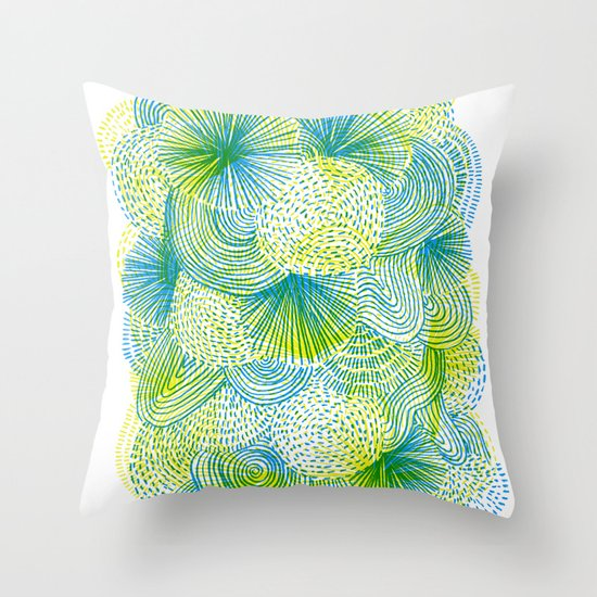 Space lime Throw Pillow