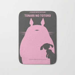 No290 My Neighbor Totor minimal movie poster Bath Mat