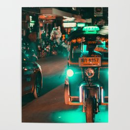 Bangkok Thailand Neon Tuk Tuk 3 Poster
