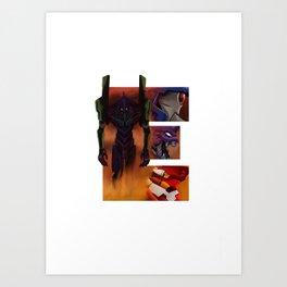Geek letter E Art Print