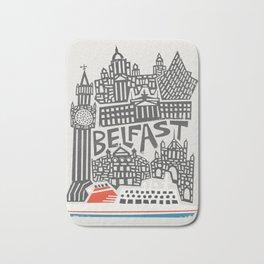 Belfast Cityscape Bath Mat