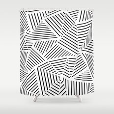 Ab Linear Zoom W Shower Curtain
