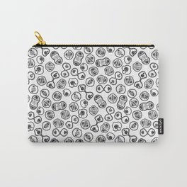 Mitosis - Black on White Carry-All Pouch