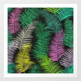 Palm Leaves Dark Art Print