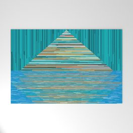 Mountain Lake Abstract Welcome Mat
