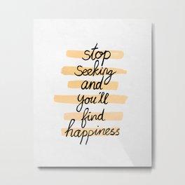 Seeking Happiness Metal Print