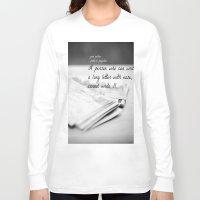jane austen Long Sleeve T-shirts featuring Jane Austen Letter by KimberosePhotography