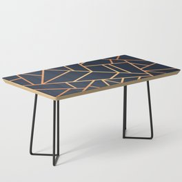 Copper and Midnight Navy Coffee Table