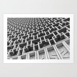 Hotel Uzbekistan, Tashkent. architecture photography poster art print  Art Print