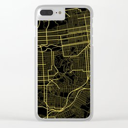 San Francisco Map Clear iPhone Case